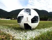 Telstar, soccer ball. Rio de Janeiro - Brazil,  Telstar, soccer ball to be used in the soccer world cup in Russia 2018 Stock Photography