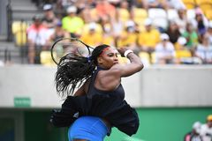 Tennis -Serena Williams. Rio de Janeiro- Brazil  Tennis game during the 2016 Olympic Games at the Olympic Park. American player Serena Williams Stock Photo