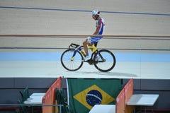 Track Cycling at the 2016 Olympics. Rio de Janeiro -Brazil, - Track Cycling at the 2016 Olympics in the park Royalty Free Stock Photos