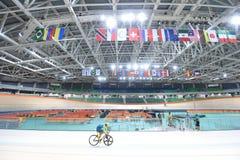 Track Cycling at the 2016 Olympics. Rio de Janeiro -Brazil, - Track Cycling at the 2016 Olympics in the park Stock Photography