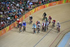 Track Cycling at the 2016 Olympics Stock Photos