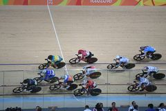 Track Cycling at the 2016 Olympics Stock Photography