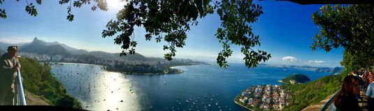 Rio de Janeiro brazil. View bay of Rio de Janeiro Cristo redentor stock image