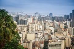 Rio De Janeiro, Brazil. View of the city through the bay royalty free stock images
