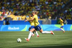 Womens soccer Brazil royalty free stock images
