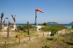 Rio de Janeiro, Brazilië - December 26 2016: Pepe Beach Vliegerbranding stock afbeelding