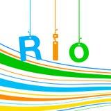 Rio de Janeiro Brazilian flag Stock Photo