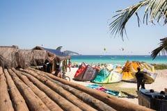 Rio De Janeiro Brazylia, Grudzień, - 26 2016: Pepe plaża Kani kipiel Obraz Stock