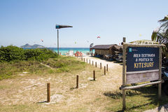 Rio De Janeiro Brazylia, Grudzień, - 26 2016: Pepe plaża Kani kipiel Fotografia Stock