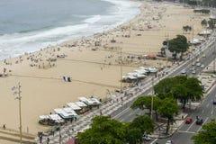 Rio De Janeiro Brazylia, Listopad, - 10, 2018: Widok buduje Copacabana plaża z góry zdjęcia stock