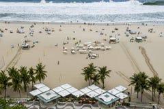 Rio De Janeiro Brazylia, Listopad, - 10, 2018: Widok buduje Copacabana plaża z góry zdjęcia royalty free