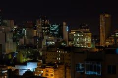 Rio de Janeiro buildings downtown at night. Brazil stock photos