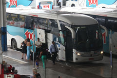 Rio de Janeiro bus station gets crowded on Christmas holiday Royalty Free Stock Photo