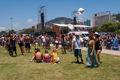 Rio de Janeiro Carnival Block Stockfotografie