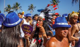 RIO`S CARNIVAL ON STREET BRAZIL 2018 royalty free stock photos