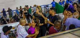 RIO`S CARNIVAL SAMBODROM BRAZIL 2018. royalty free stock images