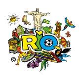 Rio de janeiro cartoon background Stock Photo