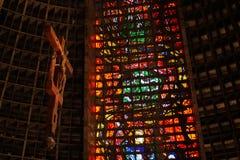 Rio de Janeiro Cathedral Royaltyfri Bild