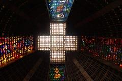 Rio de Janeiro Cathedral Royaltyfri Fotografi