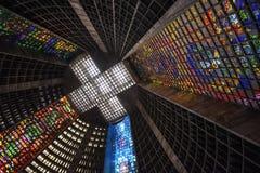 Rio de Janeiro Cathedral Rio de Janeiro, Brasilien arkivbild