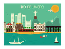 Rio de Janeiro. Rio de Janeiro city. Brazil Stock Photo