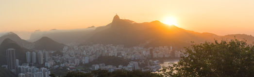 Rio de Janeiro City - Panoramic View Royalty Free Stock Photo