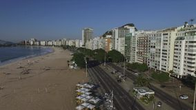 Beautiful Tropical Beach Landscape, Luxury Buildings in Copacabana Beach. Wonderful city to visit. stock video