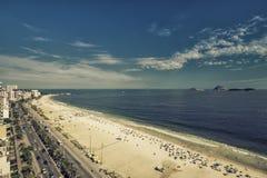 Rio de Janeiro coast along Ipanema Beach, Brazil Royalty Free Stock Photography