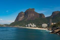 Rio de Janeiro Coast With Mountains Stock Images