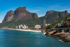 Rio de Janeiro Coast With Mountains Royalty Free Stock Photos