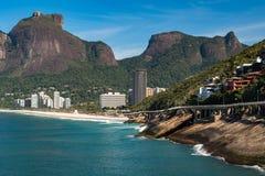 Rio de Janeiro Coast With Mountains Royalty Free Stock Photo