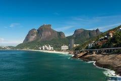 Rio de Janeiro Coast With Mountains Royalty Free Stock Photography