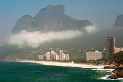 Rio de Janeiro Coastline with Mountains Stock Photo