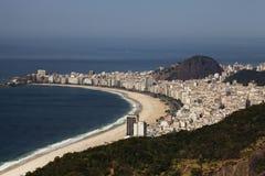 Rio- de Janeiro- Cobacabana Strand Stockbild