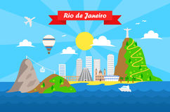 Free Rio De Janeiro Colorful Background Vector Royalty Free Stock Photos - 54893208