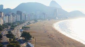 Rio De Janeiro Copacabana Coastline Traffic Royalty Free Stock Photography