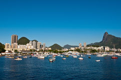 Rio de Janeiro with Corcovado Mountain and Christ the Redeemer Royalty Free Stock Photography