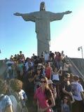 Rio de Janeiro cristo Redentor Arkivbilder