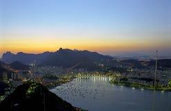 Rio de Janeiro at dawn. A beautiful evening in Rio de Janeiro Royalty Free Stock Photography