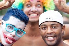 RIO DE JANEIRO - 11 DE FEVEREIRO: Jovens que têm o divertimento no fre Fotos de Stock