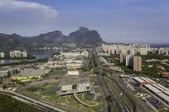 Rio de Janeiro, de luchtmening van Barra da Tijuca Royalty-vrije Stock Fotografie