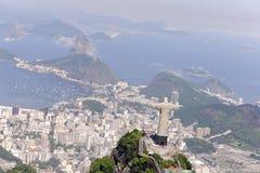 Rio de Janeiro: De Verlosser van Christus stock afbeeldingen