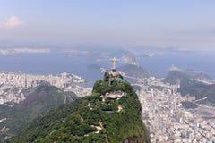 Rio de Janeiro: De Verlosser van Christus stock foto's