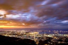 Rio de Janeiro downtown. Aerial view of Rio de Janeiro downtown at dusk royalty free stock image