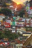 Rio de Janeiro downtown and favela. Brazil royalty free stock photos