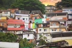 Rio de Janeiro downtown and favela. Brazil stock photography