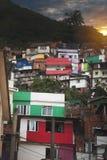 Rio de Janeiro downtown and favela. Brazil royalty free stock photography
