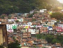 Rio de Janeiro downtown and favela. Brazil royalty free stock images