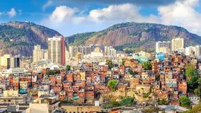 Rio de Janeiro downtown. And favela stock images