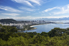 Rio de Janeiro Downtown. And Santos Dumont Airport in a view from the Morro da Viuva hill royalty free stock photos